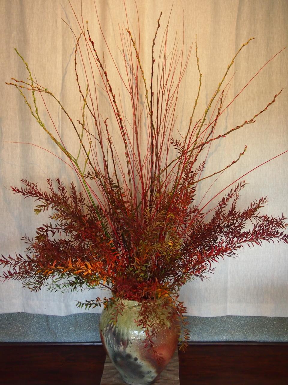 今回は全体が赤い紅葉に染まっています。 これは雪柳。 春先に白い花を咲... Miss桜子のひと
